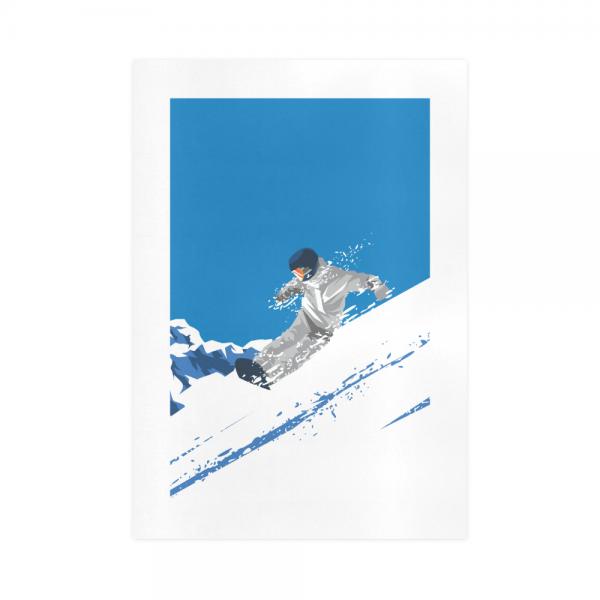 Winter Sports Skiing Canvas Wall Art