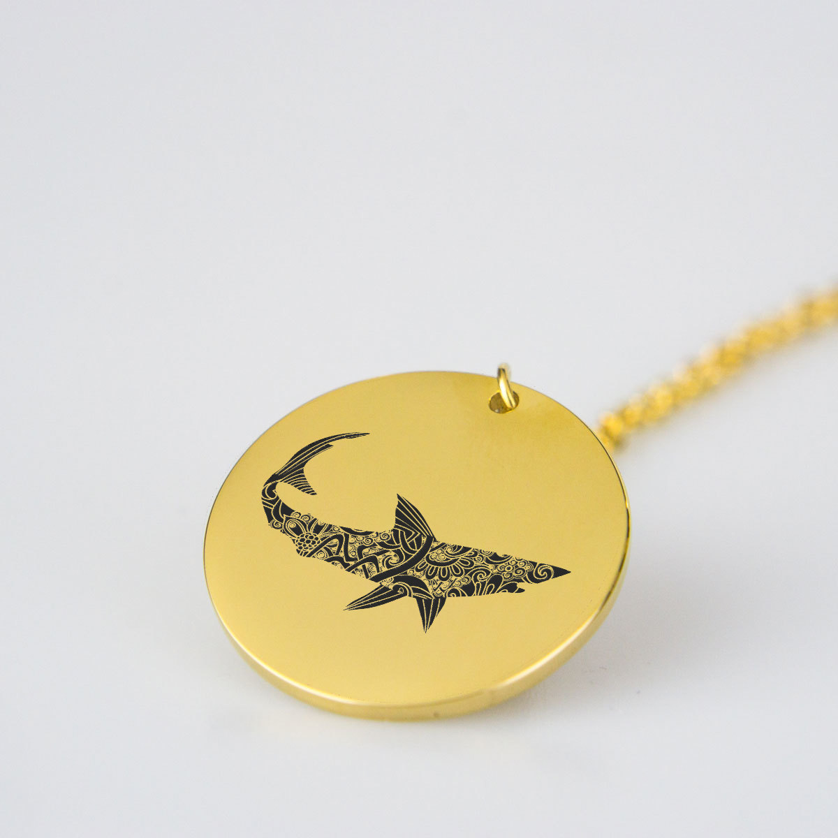 Shark Silhouette Charm Necklace