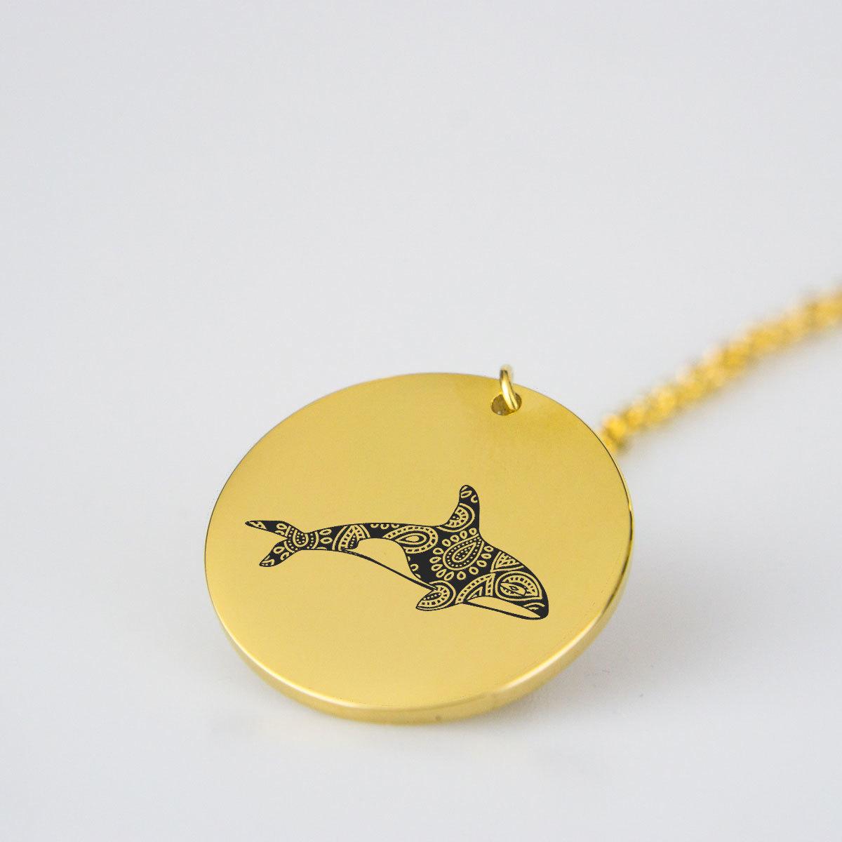Killer Whale Charm Necklace