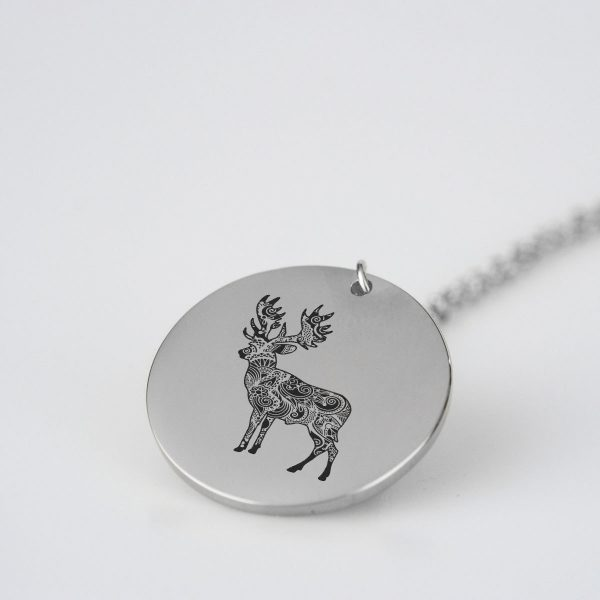 Deer Silhouette Charm Necklace