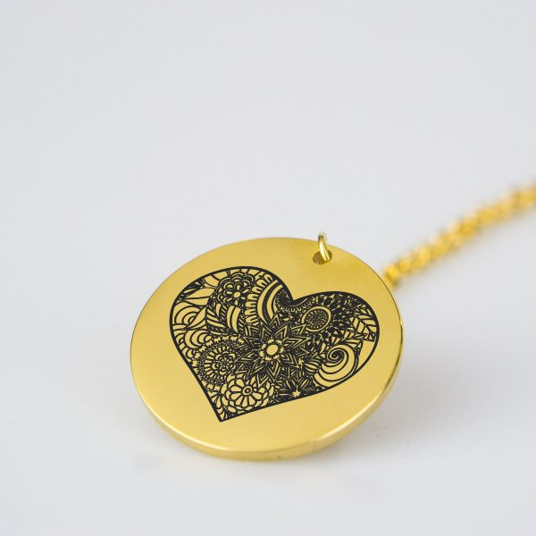Attractive Heart Charm Necklace