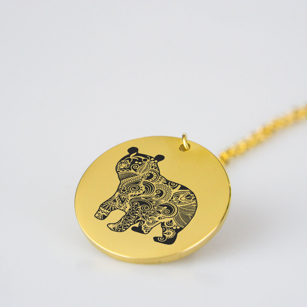 Animal Bear Charm Necklace