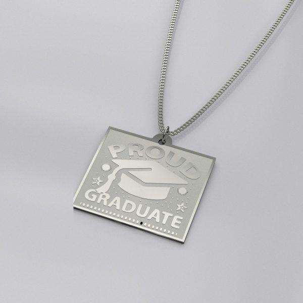 Proud Graduate Charm Necklace