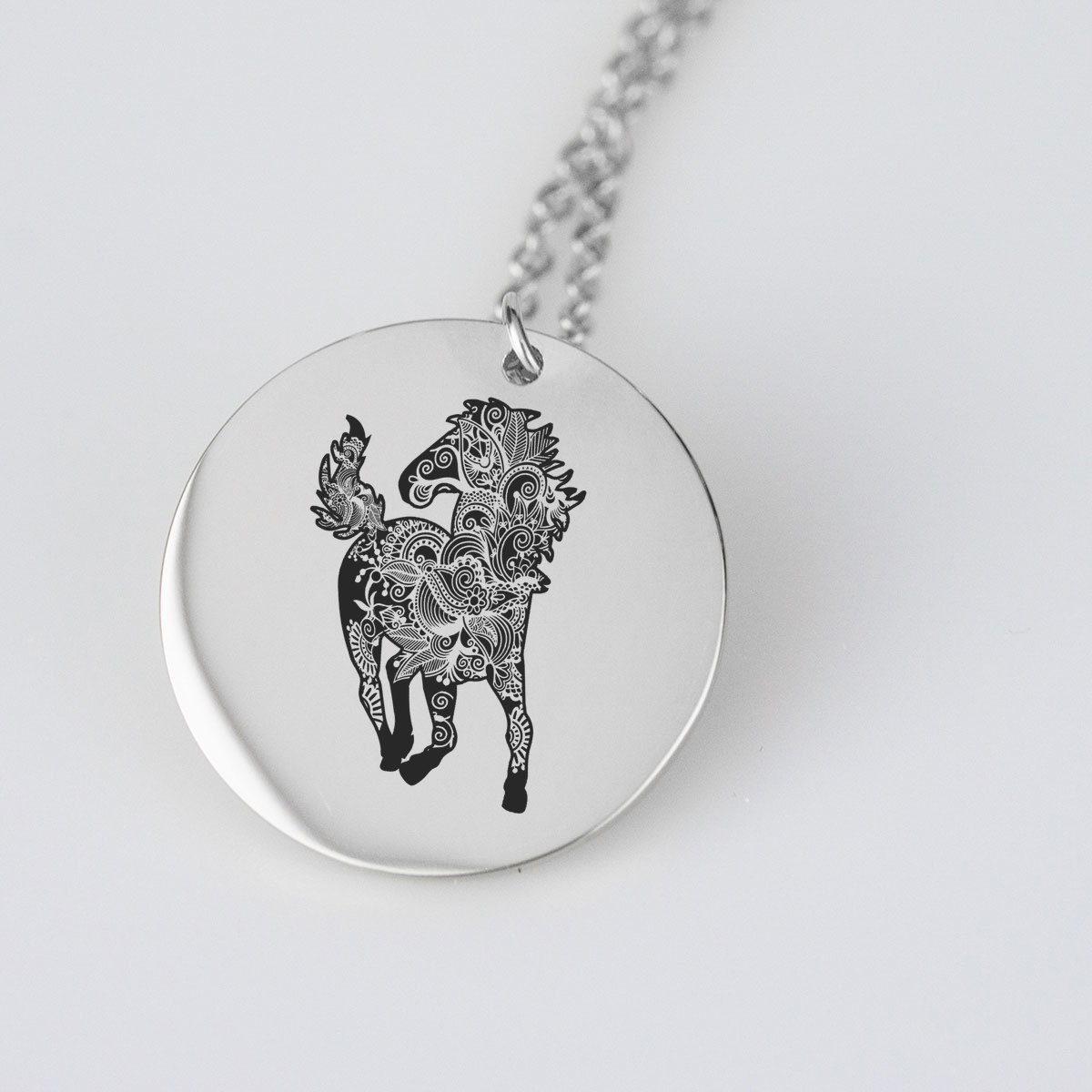 Wild Horse Silhouette Charm Necklace