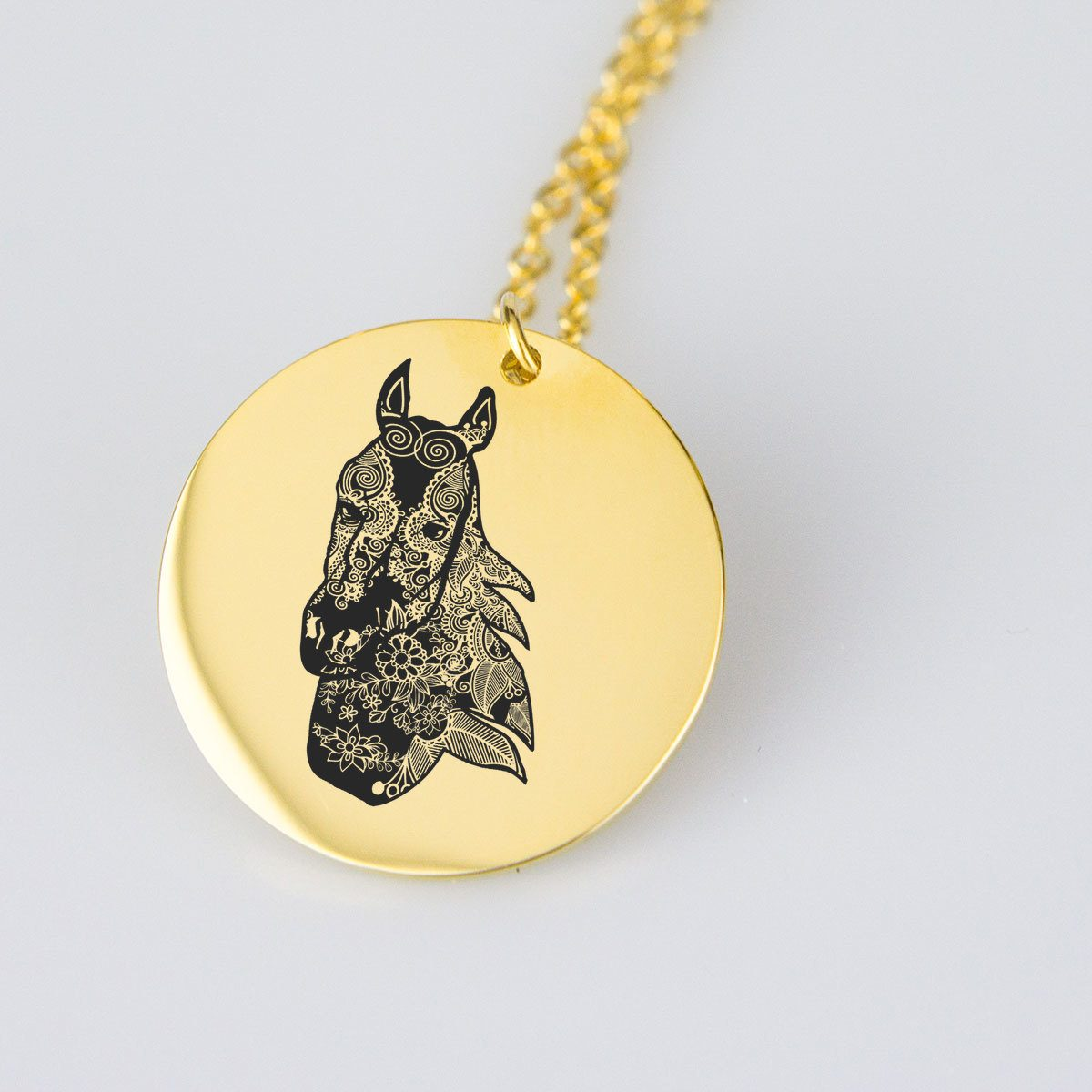 Horse Silhouette Charm Necklace