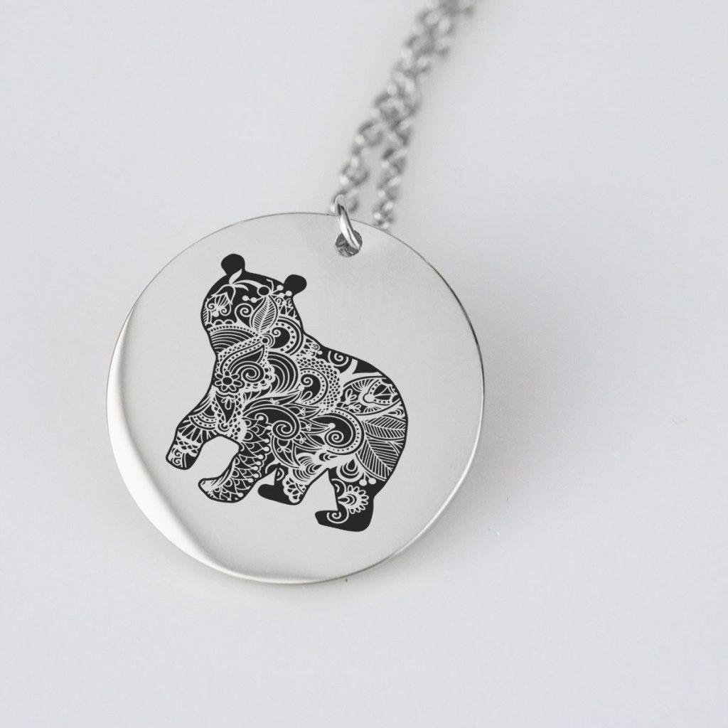 Majestic Animal Bear Charm Necklace