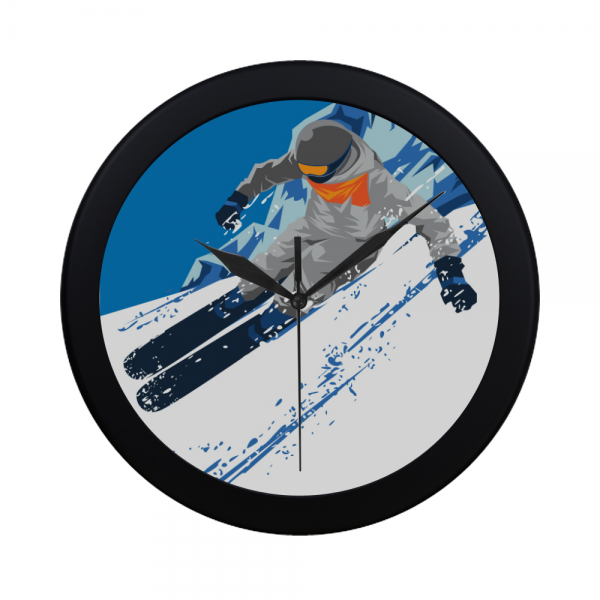 Winter Sport Elegant Wall Clock