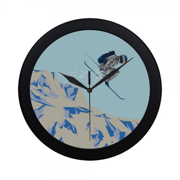 Winter Skating Sports Wall Clock