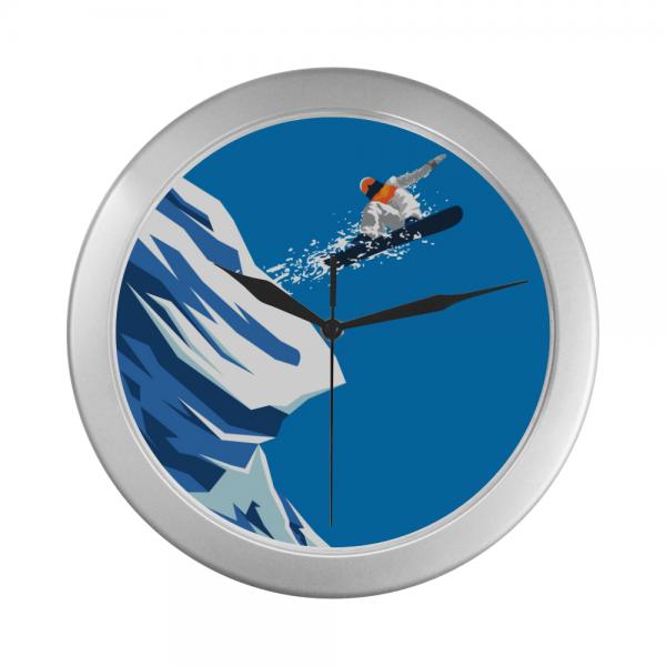 Winter Sports Pattern Wall Clock