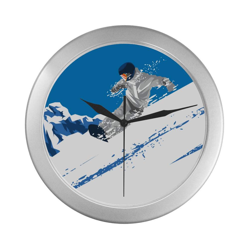 Ice Surfing Print Wall Clock