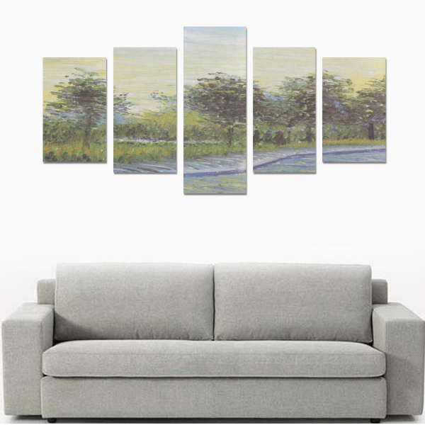 River With Tree Canvas Wall Art