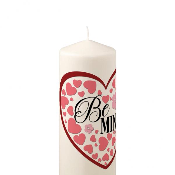 Pillar Candle Heart Be Mine