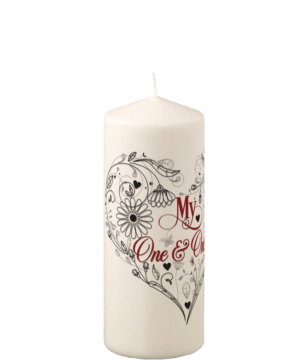 Pillar Candle My One & Only