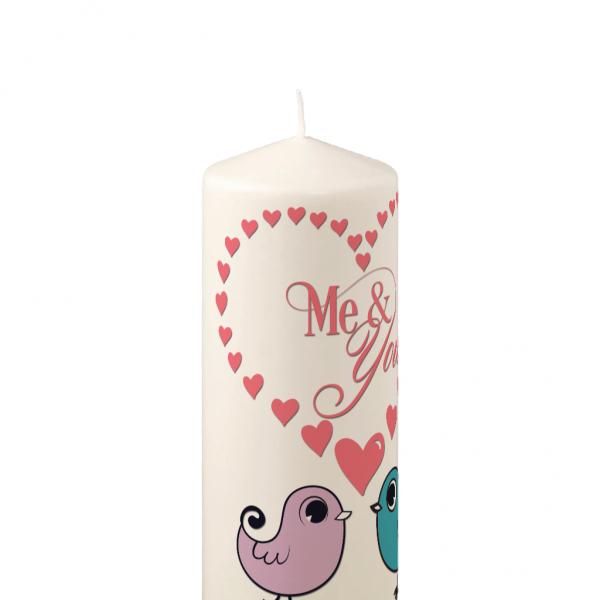 Pillar Candle Me & You