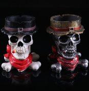 BUF Resin Craft Skull Statues For Decoration Buccaneer Skull Head Ashtray Creative Skull Ashtray Creative Gift 1