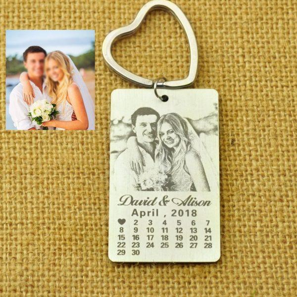 Personalized Calendar Key Chain