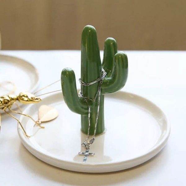 Cactus Shaped Jewelry Stand Holder