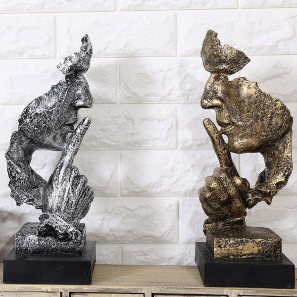 Silence Is Gold Abstract Sculpture Statues
