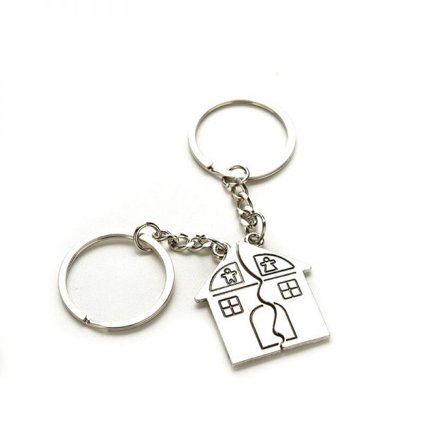 2Pcs/set Lovers Key To My Heart Keychain Valentine's Day Wedding Favors And Gifts Souvenirs Wedding Event & Party Supplies 1
