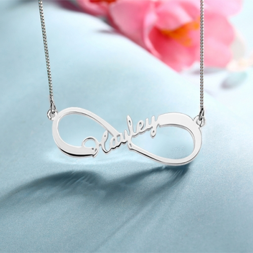 Personalized One Name Silver Necklace