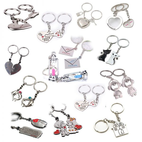 2Pcs/set Lovers Key To My Heart Keychain Valentine's Day Wedding Favors And Gifts Souvenirs Wedding Event & Party Supplies