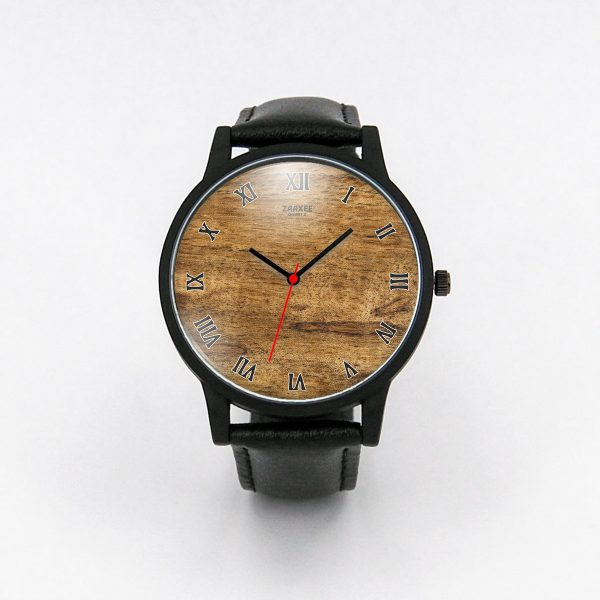 Stylish Burl Wood Quartz Watch