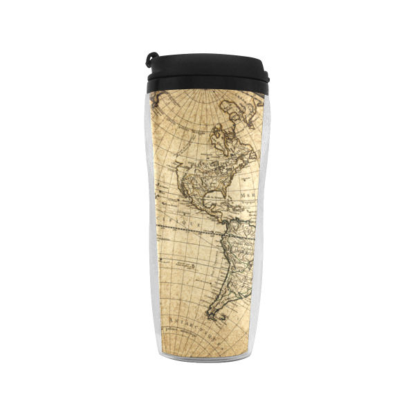 World Map Reusable Coffee Cup