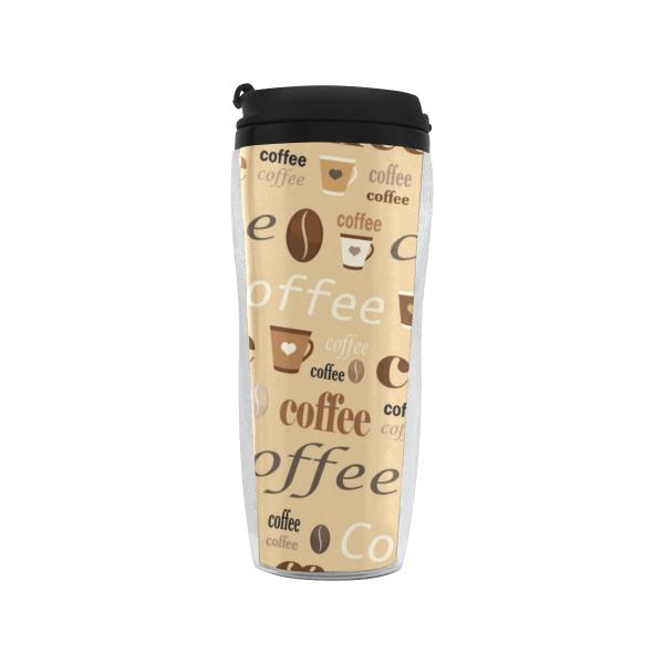 Coffee Print Reusable Coffee Cup