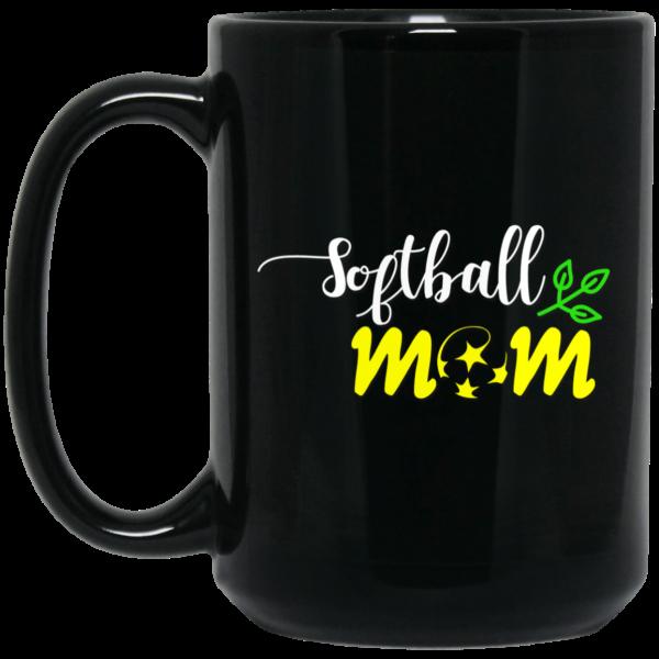 Softball Mom Attractive Black Mug
