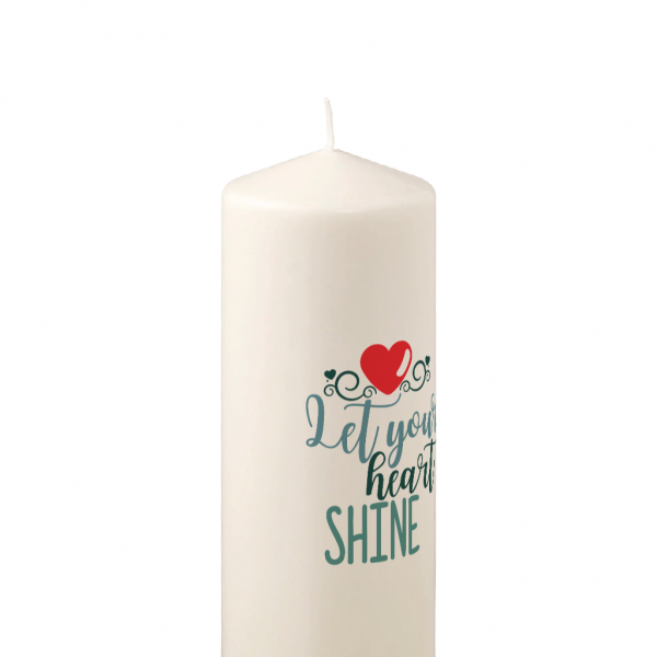 Pillar Candle Let Your Heart Shine