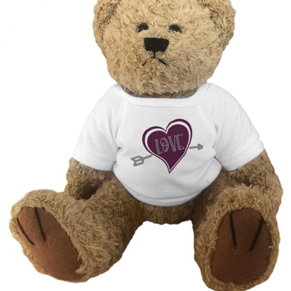 Teddy Bear Love Heart Arrow